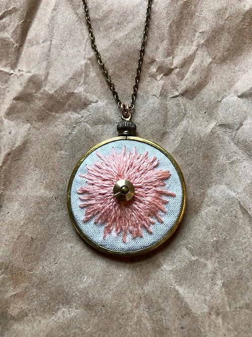 Sunburst Necklace - Peach Pink