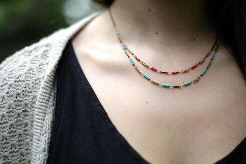 WS High Wire Necklace - Fuchsia & Aqua