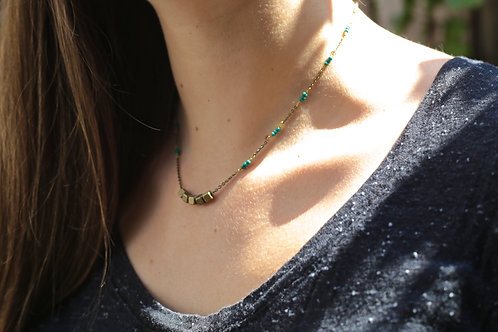 WS Roll the Dice Necklace - Forest Green