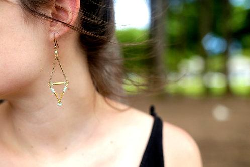 Tridangle Earrings - Amazonite