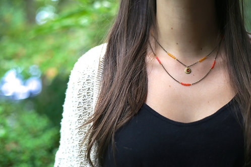 WS Namaste Necklace - Orange & Yellow