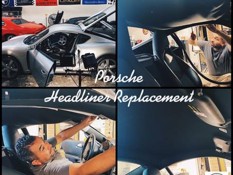 Saggy Headliner ?!  We've got you covered ! Porsche headliner replacement.