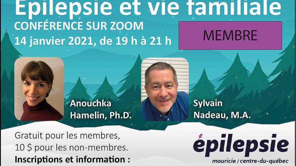 Conférence Épilepsie et vie familiale