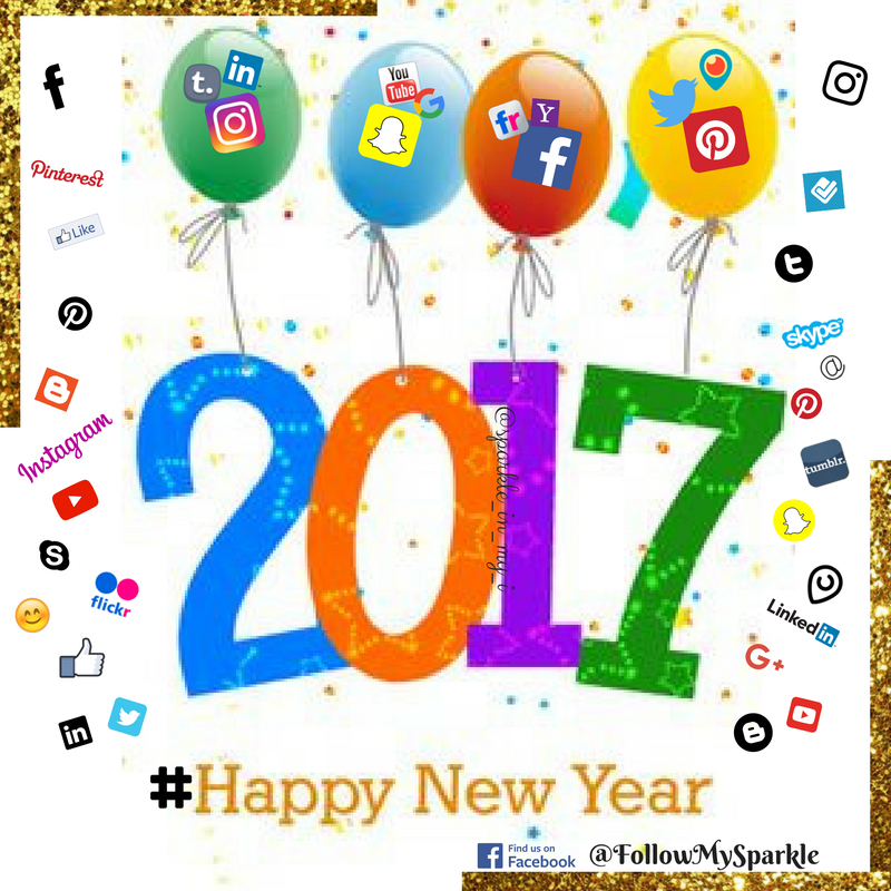 Social media new year sparkle in my i