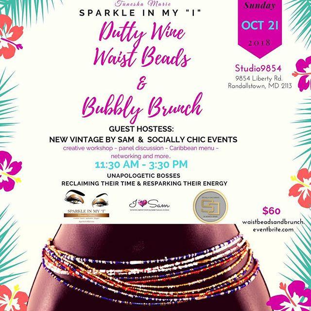 Dutty Wine Waist Beads & Bubbly Brunch