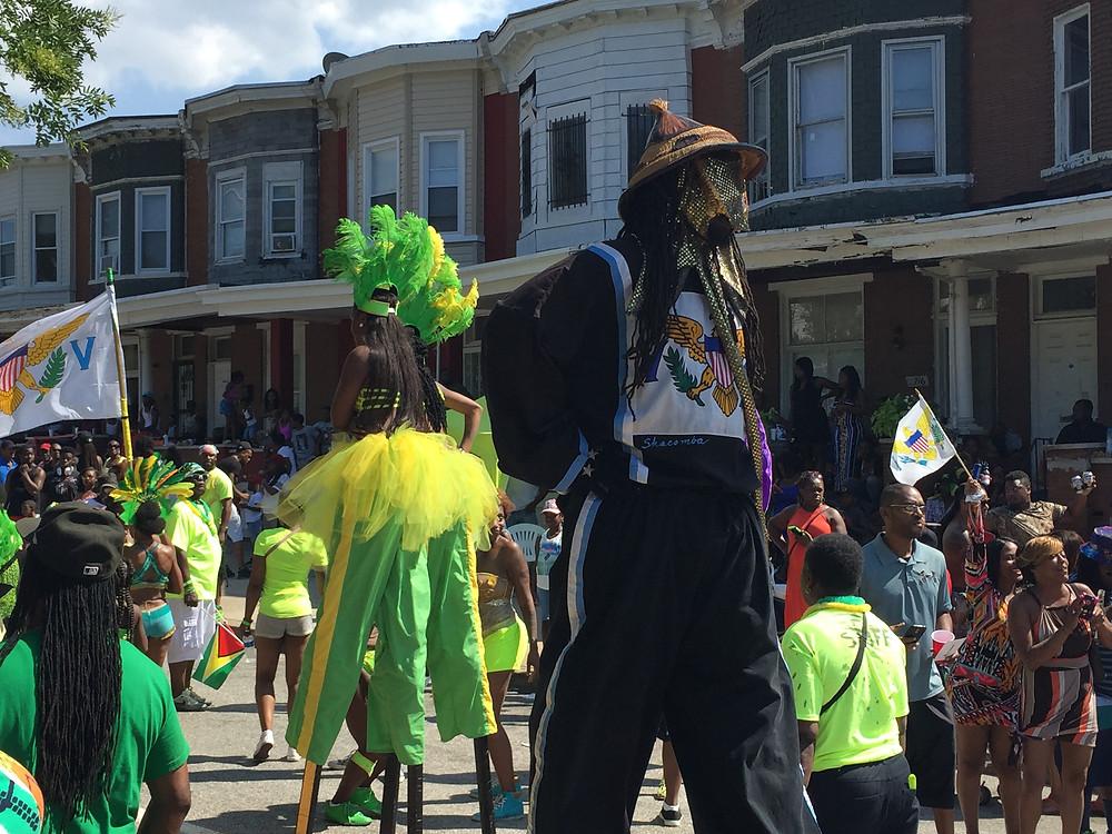 VI Mooki Jumbies in 2015 Baltimore Carnival
