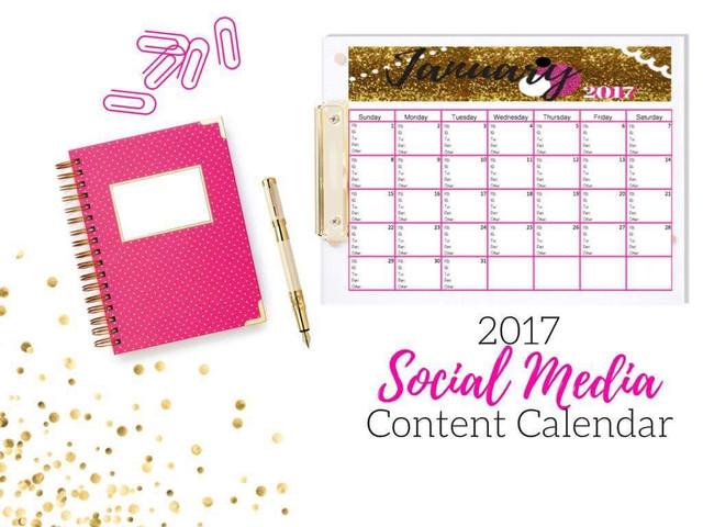 Social Media Content Calendar, click here
