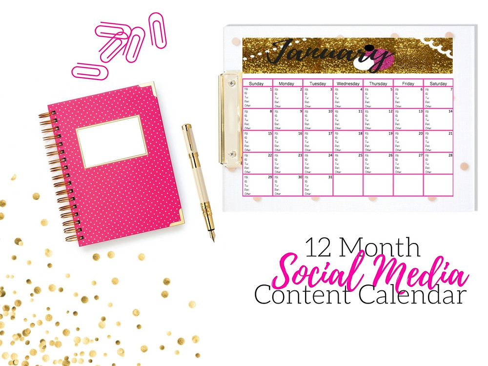 Plan 12 months in 90 minutes, Social Media Content Calendar