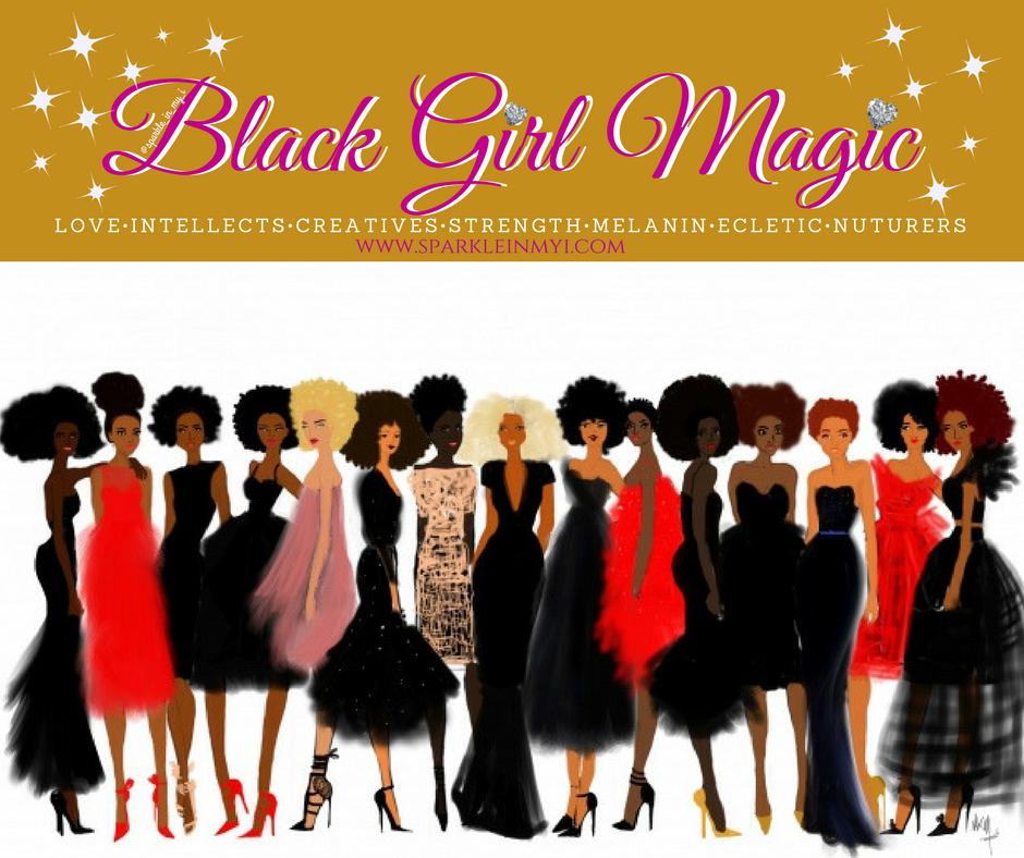 Black Girl Magic graphic by Tunesha Marie, Artwork by Nicholle Kobi