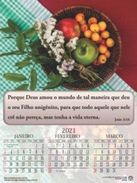 Calendário de Parede 2021 - 4 páginas