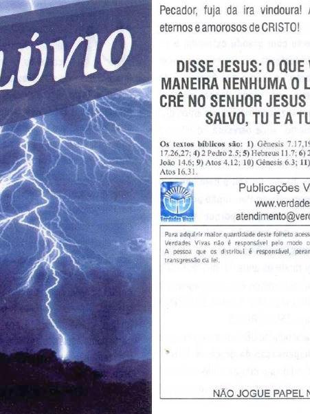 O Dilúvio - pct. c/ 100 unidades