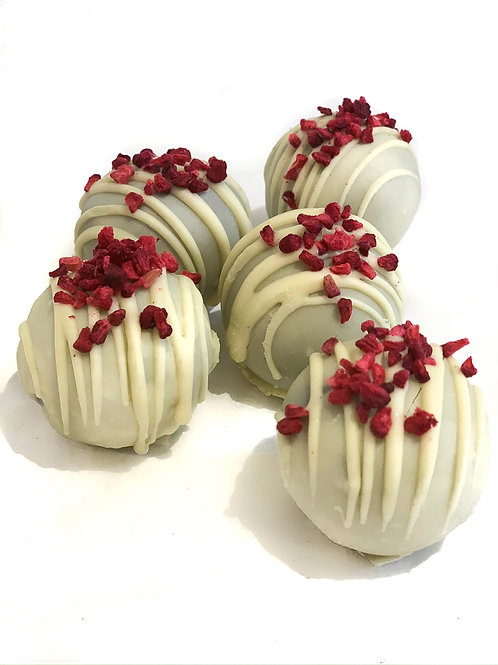 White Chocolate & Raspberry Truffles