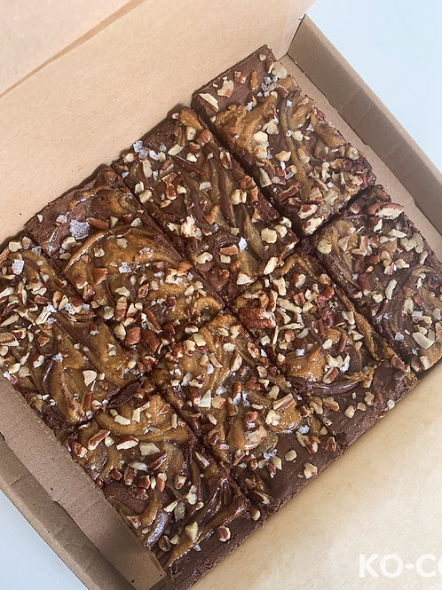 Vegan Caramel Pecan Brownie Box