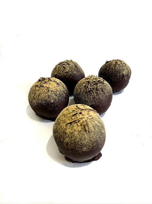 Vegan Orange Brownie Truffles