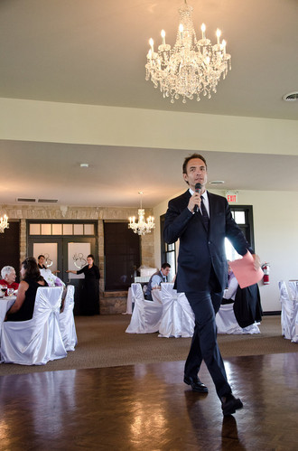 Never wanting to be constrained by a podium and a wired mic, I will make good use of all space in order that your guests or audience are captivated by movement.  Humans are better engaged by live action, I like to draw in audiences so that your message is received and remembered.
