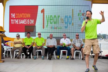 Master of Ceremonies at the 2015 PanAm Games formal launch day with all dignitaries present.