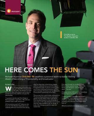 Mohawk College Alumni Magazine Story