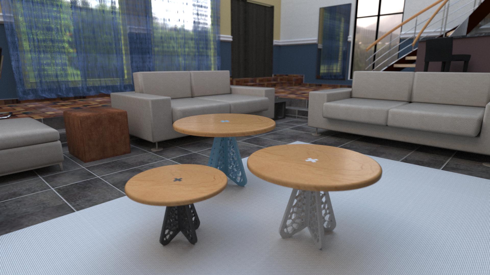 návrh stolíkov