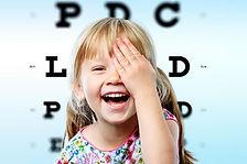 Visita oculistica pediatrica, misurazione della vista con i simboli ed in cicloplegia, valutazione ortottica