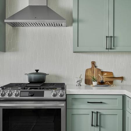 Fresh green kitchen by Kathleen Ann Design
