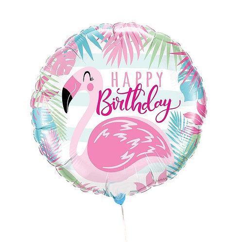 Flamingo Happy Birthday 18""