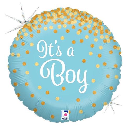 """Glitter It's a Boy 18"""""""