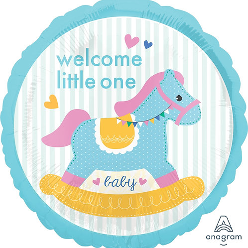 """Welcome Little One Rocking Horse 17"""""""