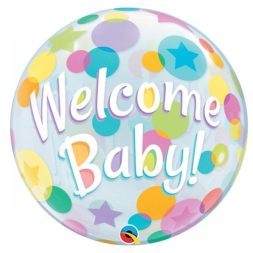 Welcome Baby Bubbles 22""