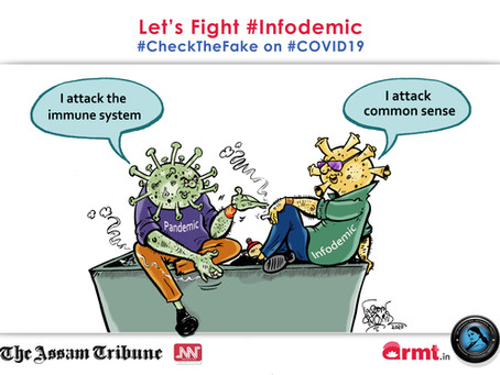 #CheckTheFake-16: Loss your 'common sense', get back your 'immunity': #Infodemic