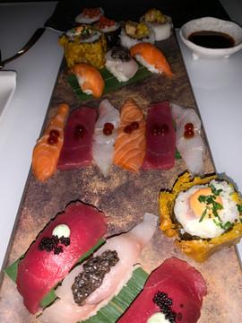 Assiette Sashimi et Sushi