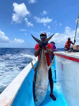 Pêche à la ligne aux Maldives