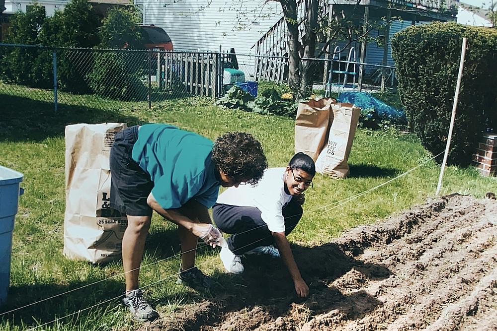Planting the garden 2010