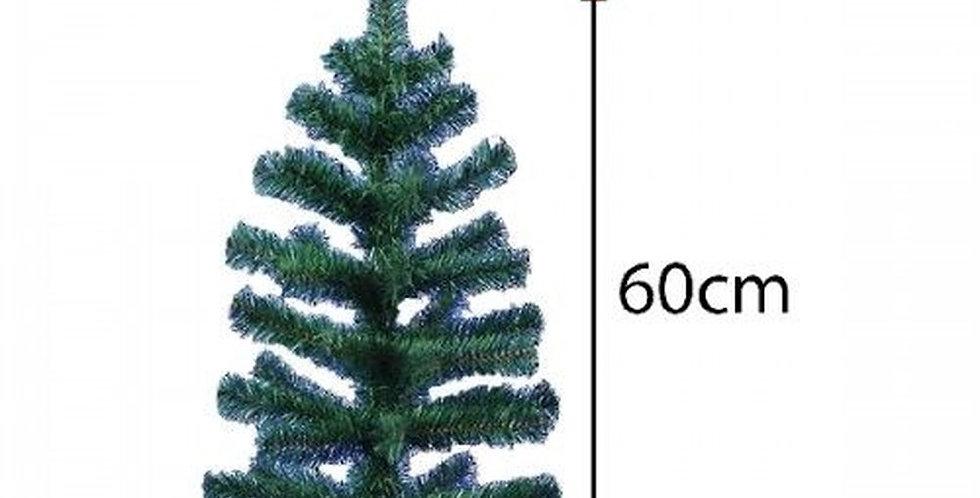 ÁRVORE DE NATAL VERDE COM 50 GALHOS 60CM