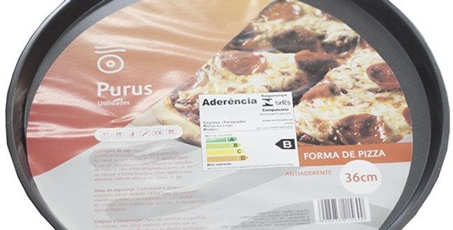 FORMA / ASSADEIRA DE ACO CARBONO ANTIADERENTE PARA PIZZA 36CM