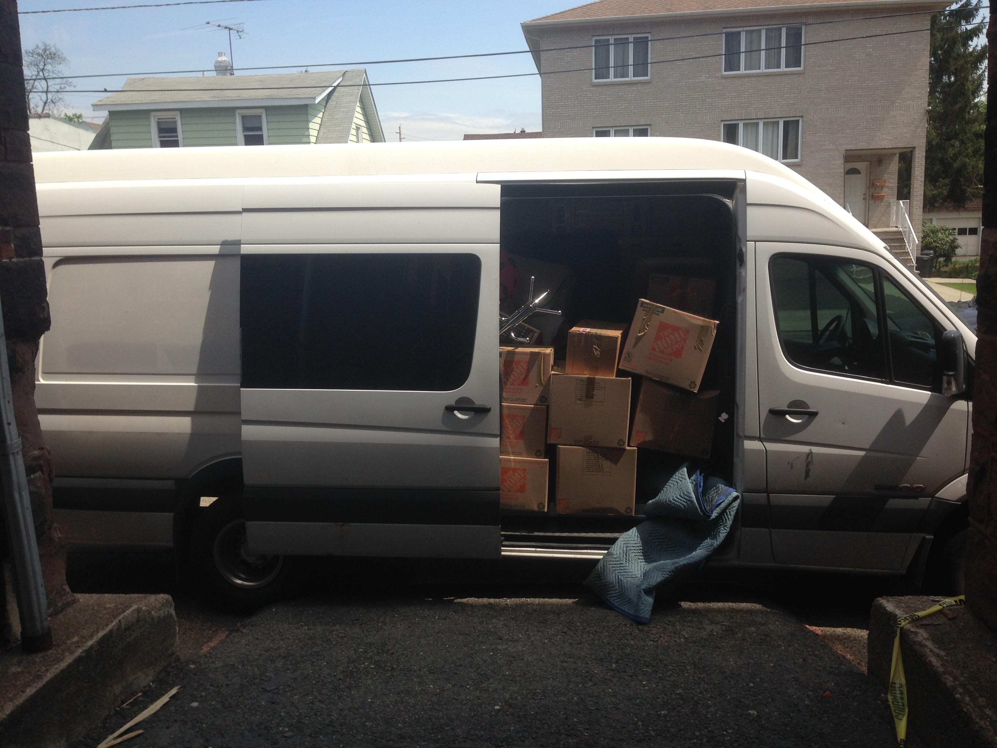 2 Men with X - Large Sprinter Van