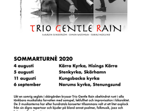 Trio Gentle Rain - Summer tour 2020