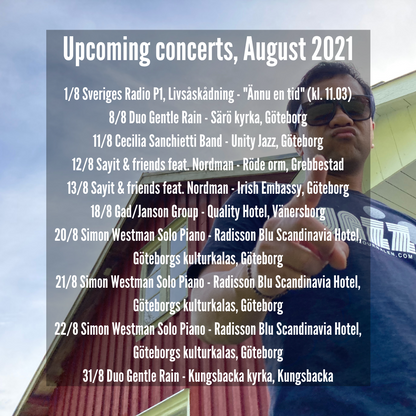 Upcoming concerts, August 2021