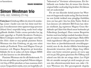 Great review in Swedish Jazz Magazine OJ