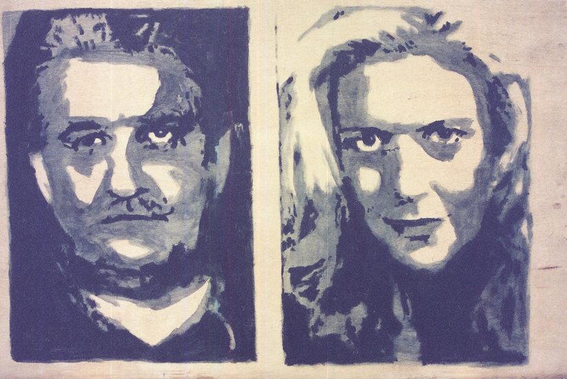 Billy Butt och blond kvinna