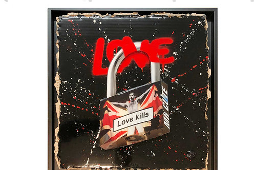 Mr Cute Love Padlock - Love Kills, Queen - 40 cm