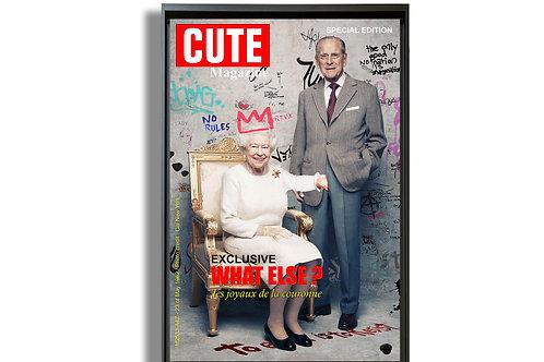 """Tableau """"Les joyaux de la couronne"""" de Mr Cute - Reine Elizabeth - Pop Art"""