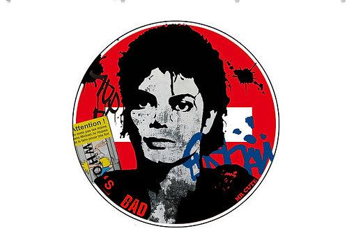 """Panneau """"Ne mets pas tes mains dans Mickael!"""" de Mr Cute - Michael Jackson - Pop Art"""