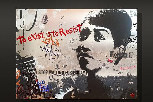 "Tableau ""Aretha"" de Mr Cute - Aretha Franklin - Pop Art Street Art Paris"