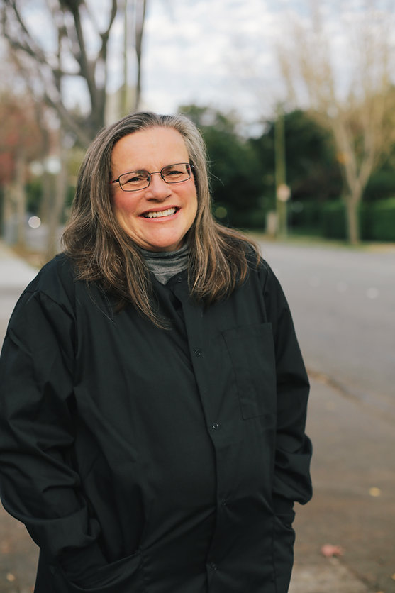Delores Eberhardt DDS in front of her Family Dentistry practice in Palo Alto, CA
