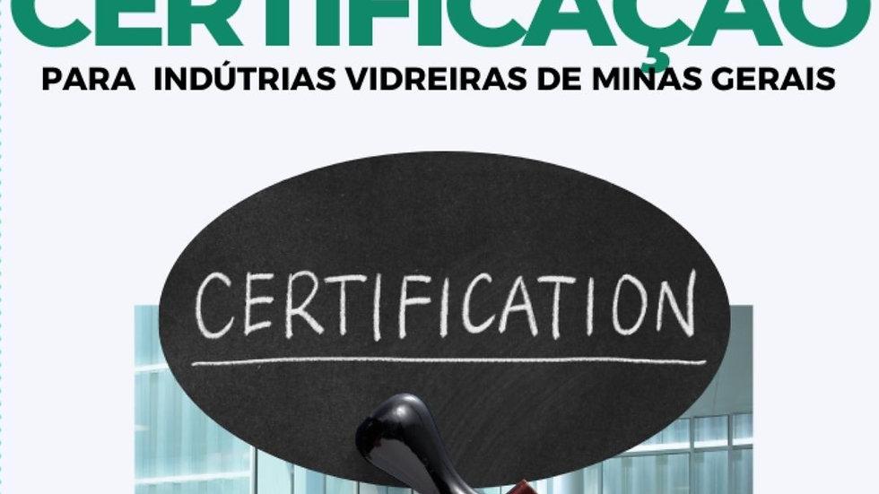 CERTIFICAÇÃO VIDREIRA - 1ª CERTIFICAÇÃO DA EMPRESA