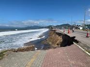 DER inicia obras para recuperar calçada e pista da Rio-Santos destruídas pela erosão em Caraguá