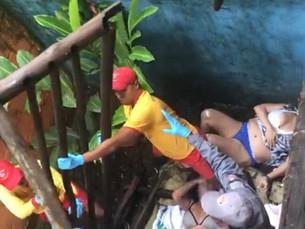 Duas turistas ficam feridas após deck desabar em pousada em Maresias