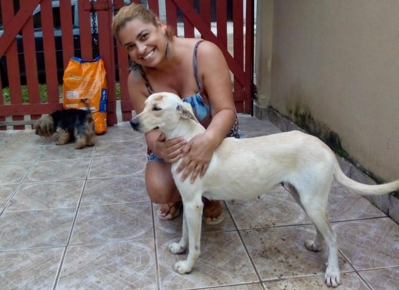 Valentina com a nova tutora - Foto: arquivo pessoal