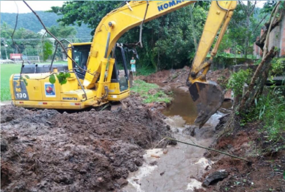Obras para evitar alagamentos na Barra do Sahy - Foto: Divulgação/PMSS
