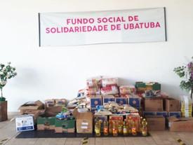 Secretaria de Esportes entrega mais de uma tonelada de alimentos para o Fundo Social de Ubatuba
